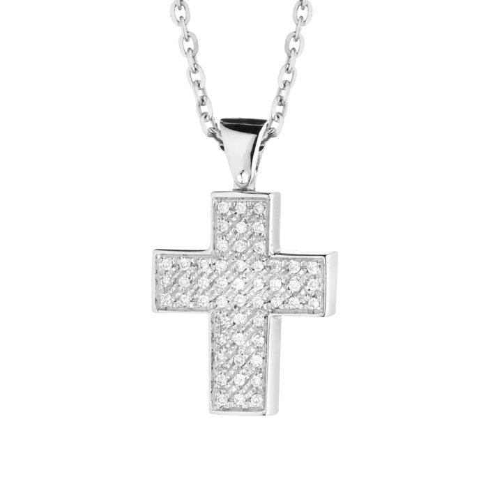 croce con diamanti