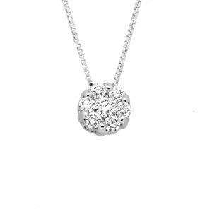 ciondolo con diamanti